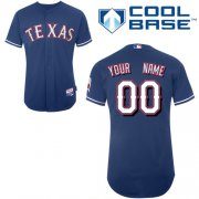 Wholesale Cheap Rangers Customized Authentic Blue Cool Base MLB Jersey (S-3XL)