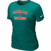 Wholesale Cheap Women's Nike Tampa Bay Buccaneers Heart & Soul NFL T-Shirt Light Green