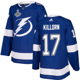 Cheap Adidas Lightning #17 Alex Killorn Blue Home Authentic Youth 2020 Stanley Cup Champions Stitched NHL Jersey