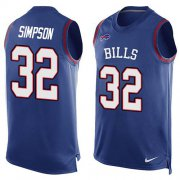 Wholesale Cheap Nike Bills #32 O. J. Simpson Royal Blue Team Color Men's Stitched NFL Limited Tank Top Jersey