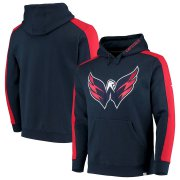 Wholesale Cheap Washington Capitals Fanatics Branded Iconic Blocked Pullover Hoodie Navy