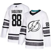 Wholesale Cheap Adidas Lightning #88 Andrei Vasilevskiy White Authentic 2019 All-Star Stitched NHL Jersey