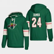 Wholesale Cheap Minnesota Wild #24 Matt Dumba Green adidas Lace-Up Pullover Hoodie