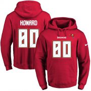 Wholesale Cheap Nike Buccaneers #80 O. J. Howard Red Name & Number Pullover NFL Hoodie