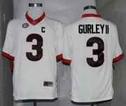 Wholesale Cheap Georgia Bulldogs #3 Todd Gurley II 2014 White Limited Jersey