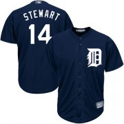 Wholesale Cheap Tigers #14 Christin Stewart Navy Blue Cool Base Stitched Youth MLB Jersey
