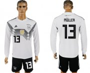 Wholesale Cheap Germany #13 Muller White Home Long Sleeves Soccer Country Jersey