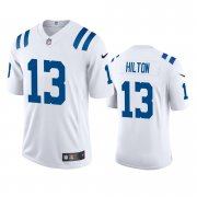 Wholesale Cheap Indianapolis Colts #13 T.Y. Hilton Men's Nike White 2020 Vapor Limited Jersey