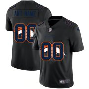 Wholesale Cheap Denver Broncos Custom Men's Nike Team Logo Dual Overlap Limited NFL Jersey Black