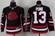 Wholesale Blackhawks #13 Punk Black(Red Skull) 2014 Stadium Series Stitched Youth NHL Jersey