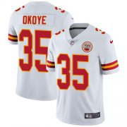 Wholesale Cheap Nike Chiefs #35 Christian Okoye White Men's Stitched NFL Vapor Untouchable Limited Jersey