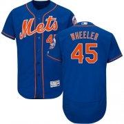 Wholesale Cheap Mets #45 Zack Wheeler Blue Flexbase Authentic Collection Stitched MLB Jersey