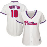 Wholesale Cheap Phillies #10 Darren Daulton Cream Alternate Women's Stitched MLB Jersey