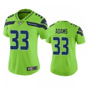 Wholesale Cheap Seattle Seahawks #33 Jamal Adams Women's Green Color Rush Stitched Jersey