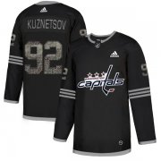 Wholesale Cheap Adidas Capitals #92 Evgeny Kuznetsov Black_1 Authentic Classic Stitched NHL Jersey