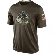 Wholesale Cheap Men's Vancouver Canucks Salute To Service Nike Dri-FIT T-Shirt