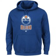 Wholesale Cheap Edmonton Oilers Majestic Critical Victory VIII Fleece Hoodie Blue