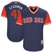 "Wholesale Cheap Red Sox #41 Chris Sale Navy ""Stickman"" Players Weekend Authentic Stitched MLB Jersey"