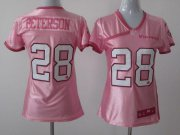 Wholesale Cheap Nike Vikings #28 Adrian Peterson New Pink Women's Be Luv'd Stitched NFL Elite Jersey