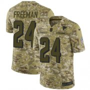 Wholesale Cheap Nike Falcons #24 Devonta Freeman Camo Men's Stitched NFL Limited 2018 Salute To Service Jersey
