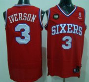 Wholesale Cheap Philadelphia 76ers #3 Allen Iverson Red 10TH Swingman Jersey