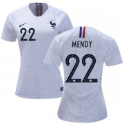 Wholesale Cheap Women's France #22 Mendy Away Soccer Country Jersey