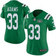 Wholesale Cheap Nike Jets #33 Jamal Adams Green Women's Stitched NFL Limited Rush Jersey