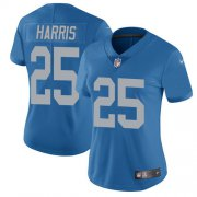 Wholesale Cheap Nike Lions #25 Will Harris Blue Throwback Women's Stitched NFL Vapor Untouchable Limited Jersey