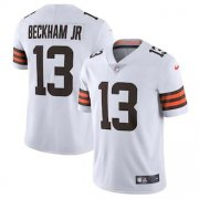 Wholesale Cheap Cleveland Browns #13 Odell Beckham Jr. Men's Nike White 2020 Vapor Limited Jersey