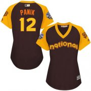 Wholesale Cheap Giants #12 Joe Panik Brown 2016 All-Star National League Women's Stitched MLB Jersey