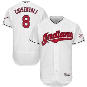 Wholesale Cheap Cleveland Indians #8 Lonnie Chisenhall Majestic Home 2019 All-Star Game Patch Flex Base Player Jersey White