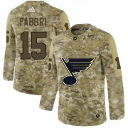 Wholesale Cheap Adidas Blues #15 Robby Fabbri Camo Authentic Stitched NHL Jersey
