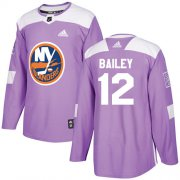 Wholesale Cheap Adidas Islanders #12 Josh Bailey Purple Authentic Fights Cancer Stitched NHL Jersey