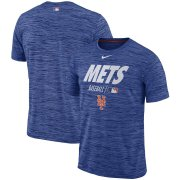 Wholesale Cheap New York Mets Nike Authentic Collection Velocity Team Issue Performance T-Shirt Royal