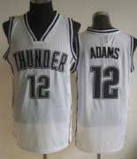 Wholesale Cheap Oklahoma City Thunder #12 Steven Adams White With Black Swingman Jersey