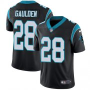 Wholesale Cheap Nike Panthers #28 Rashaan Gaulden Black Team Color Men's Stitched NFL Vapor Untouchable Limited Jersey