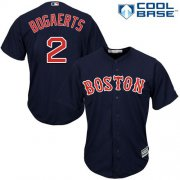 Wholesale Cheap Red Sox #2 Xander Bogaerts Navy Blue Cool Base Stitched Youth MLB Jersey