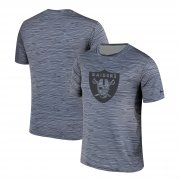 Wholesale Cheap Men's Las Vegas Raiders Nike Gray Black Striped Logo Performance T-Shirt