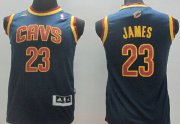Cheap Cleveland Cavaliers #23 LeBron James Navy Blue Kids Jersey