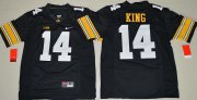Wholesale Cheap Men's Iowa Hawkeyes #14 Desmond King Black Limited Stitched College Football Nike NCAA Jersey