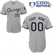 Wholesale Cheap White Sox Personalized Authentic Grey MLB Jersey (S-3XL)