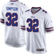 Wholesale Cheap Nike Bills #32 O. J. Simpson White Youth Stitched NFL New Elite Jersey