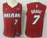 Wholesale Cheap Men's Miami Heat #7 Goran Dragic Red 2017-2018 Nike Swingman Ultimate Software Stitched NBA Jersey