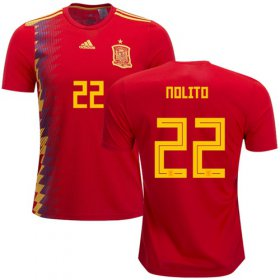 Wholesale Cheap Spain #22 Nolito Home Soccer Country Jersey