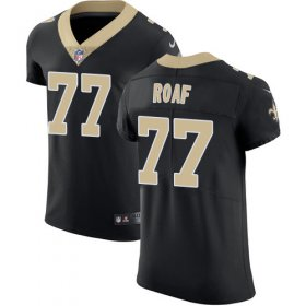 Wholesale Cheap Nike Saints #77 Willie Roaf Black Team Color Men\'s Stitched NFL Vapor Untouchable Elite Jersey