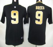 Wholesale Cheap Nike Saints #9 Drew Brees Black Team Color Youth Stitched NFL Elite Jersey