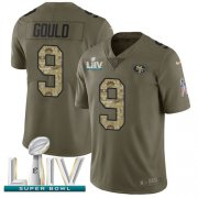 Wholesale Cheap Nike 49ers #9 Robbie Gould Olive/Camo Super Bowl LIV 2020 Men's Stitched NFL Limited 2017 Salute To Service Jersey