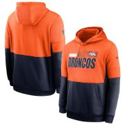 Wholesale Cheap Denver Broncos Nike Sideline Impact Lockup Performance Pullover Hoodie Orange Navy