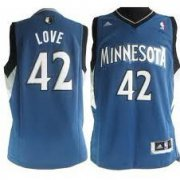 Wholesale Cheap Minnesota Timberwolves #42 Kevin Love Revolution 30 Swingman Blue Jersey
