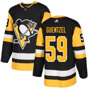 Wholesale Cheap Adidas Penguins #59 Jake Guentzel Black Home Authentic Stitched NHL Jersey